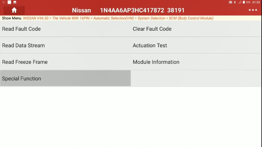 Change-Signature-Light-for-Nissan-Maxima-2017-by-Launch-X431-4