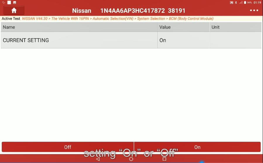 Change-Signature-Light-for-Nissan-Maxima-2017-by-Launch-X431-6