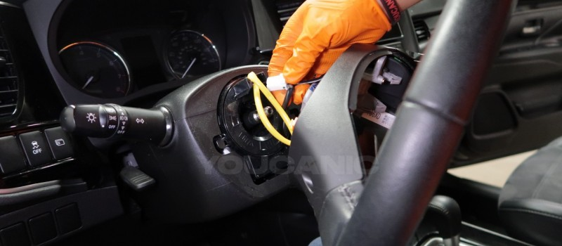 How-to-Remove-and-Replace-Steering-Column-Switch-on-a-Mitsubishi-Outlander-9